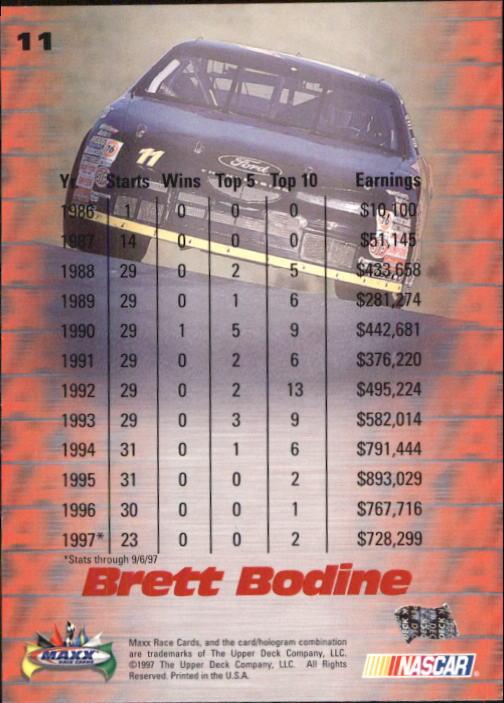 1997-Maxx-Auto-Racing-Cards-1-120-Rookies-A3252-You-Pick-10-FREE-SHIP thumbnail 23