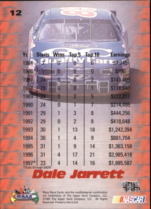 1997-Maxx-Auto-Racing-Cards-1-120-Rookies-A3252-You-Pick-10-FREE-SHIP thumbnail 25