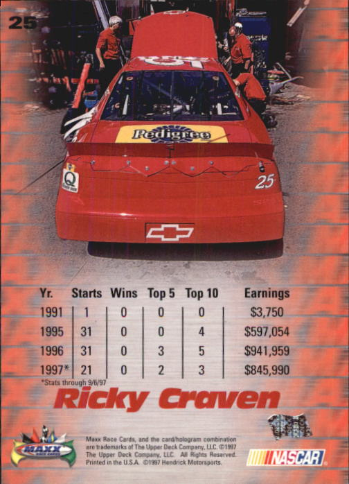 1997-Maxx-Auto-Racing-Cards-1-120-Rookies-A3252-You-Pick-10-FREE-SHIP thumbnail 51