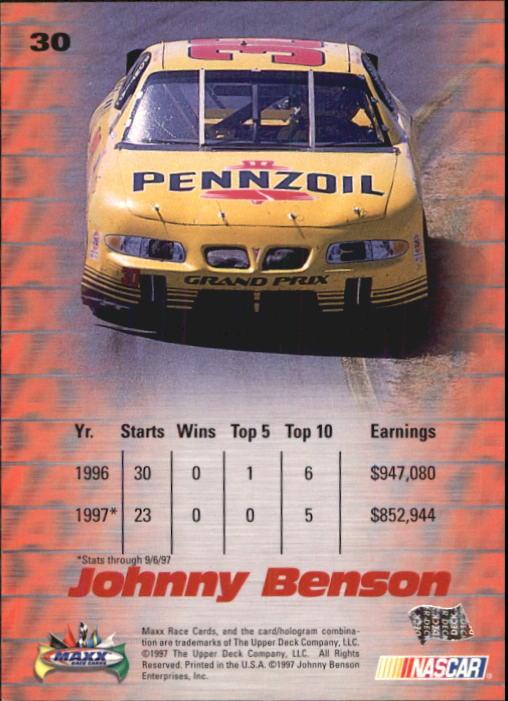 1997-Maxx-Auto-Racing-Cards-1-120-Rookies-A3252-You-Pick-10-FREE-SHIP thumbnail 61