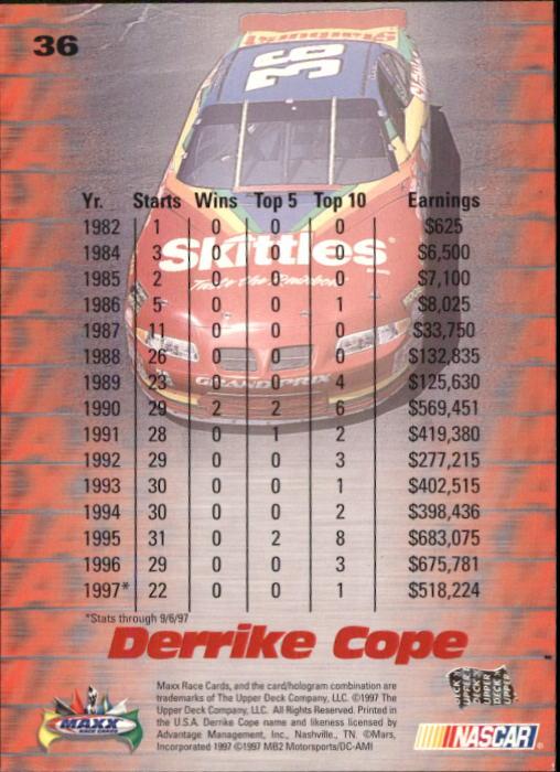 1997-Maxx-Auto-Racing-Cards-1-120-Rookies-A3252-You-Pick-10-FREE-SHIP thumbnail 73