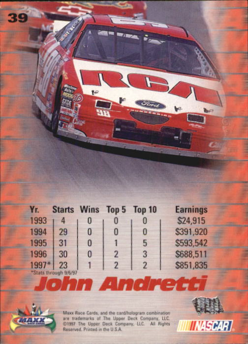 1997-Maxx-Auto-Racing-Cards-1-120-Rookies-A3252-You-Pick-10-FREE-SHIP thumbnail 79