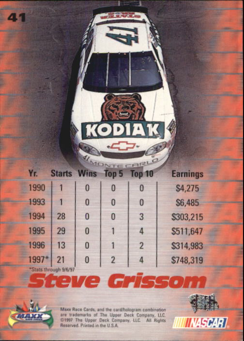 1997-Maxx-Auto-Racing-Cards-1-120-Rookies-A3252-You-Pick-10-FREE-SHIP thumbnail 83