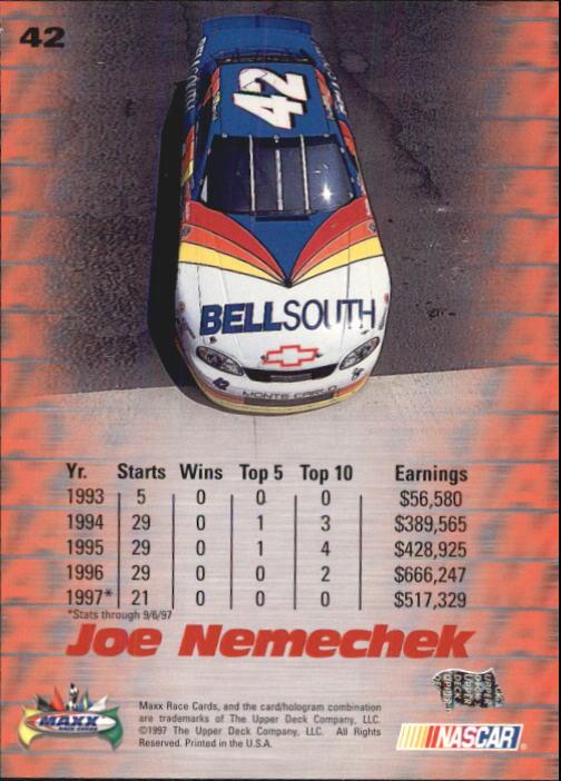 1997-Maxx-Auto-Racing-Cards-1-120-Rookies-A3252-You-Pick-10-FREE-SHIP thumbnail 85