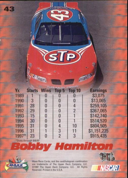 1997-Maxx-Auto-Racing-Cards-1-120-Rookies-A3252-You-Pick-10-FREE-SHIP thumbnail 87