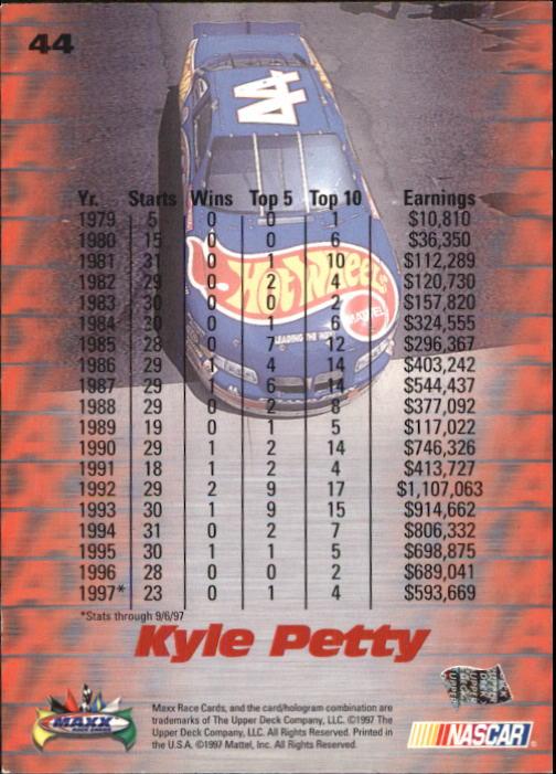 1997-Maxx-Auto-Racing-Cards-1-120-Rookies-A3252-You-Pick-10-FREE-SHIP thumbnail 89