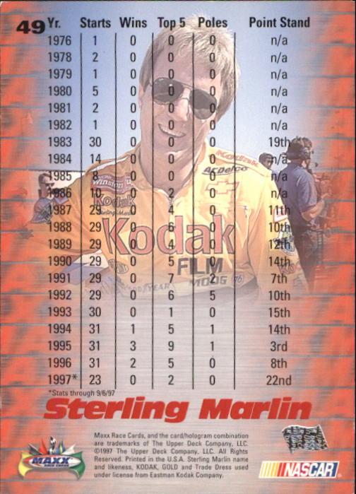 1997-Maxx-Auto-Racing-Cards-1-120-Rookies-A3252-You-Pick-10-FREE-SHIP thumbnail 99