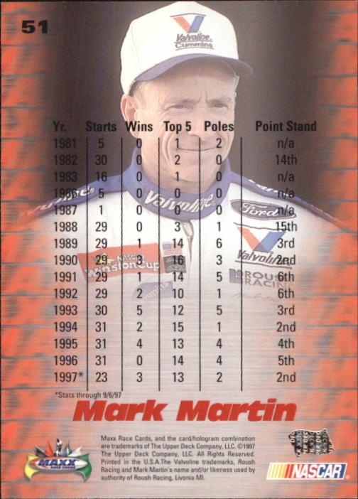 1997-Maxx-Auto-Racing-Cards-1-120-Rookies-A3252-You-Pick-10-FREE-SHIP thumbnail 103