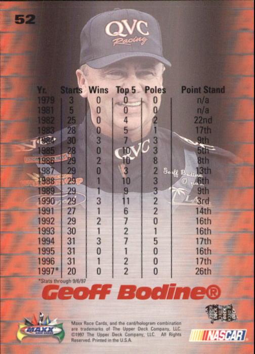 1997-Maxx-Auto-Racing-Cards-1-120-Rookies-A3252-You-Pick-10-FREE-SHIP thumbnail 105