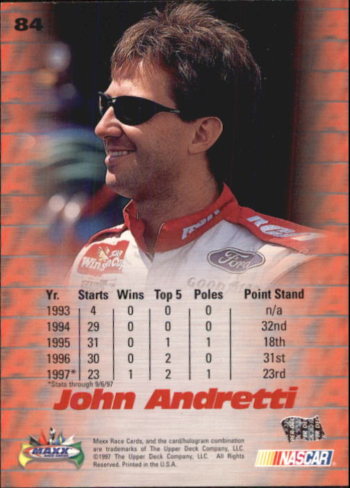 1997-Maxx-Auto-Racing-Cards-1-120-Rookies-A3252-You-Pick-10-FREE-SHIP thumbnail 167