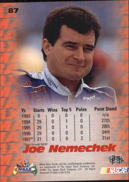 1997-Maxx-Auto-Racing-Cards-1-120-Rookies-A3252-You-Pick-10-FREE-SHIP thumbnail 173
