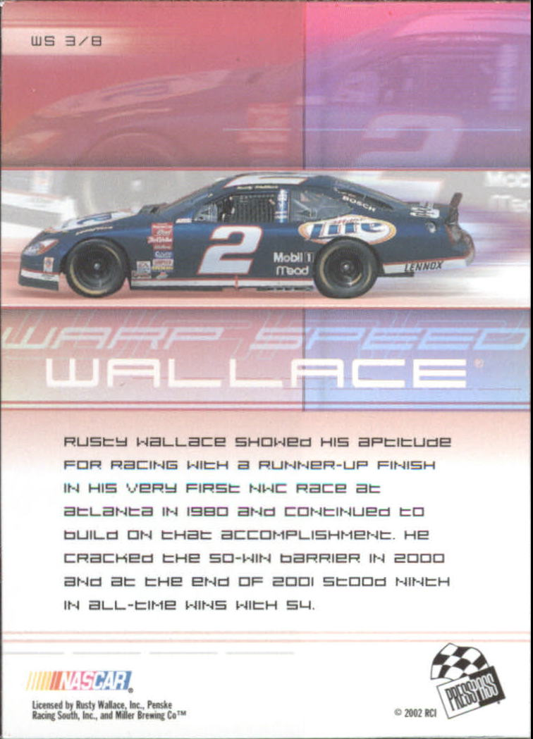2002-Press-Pass-Eclipse-Racing-Insert-Card-Pick thumbnail 27