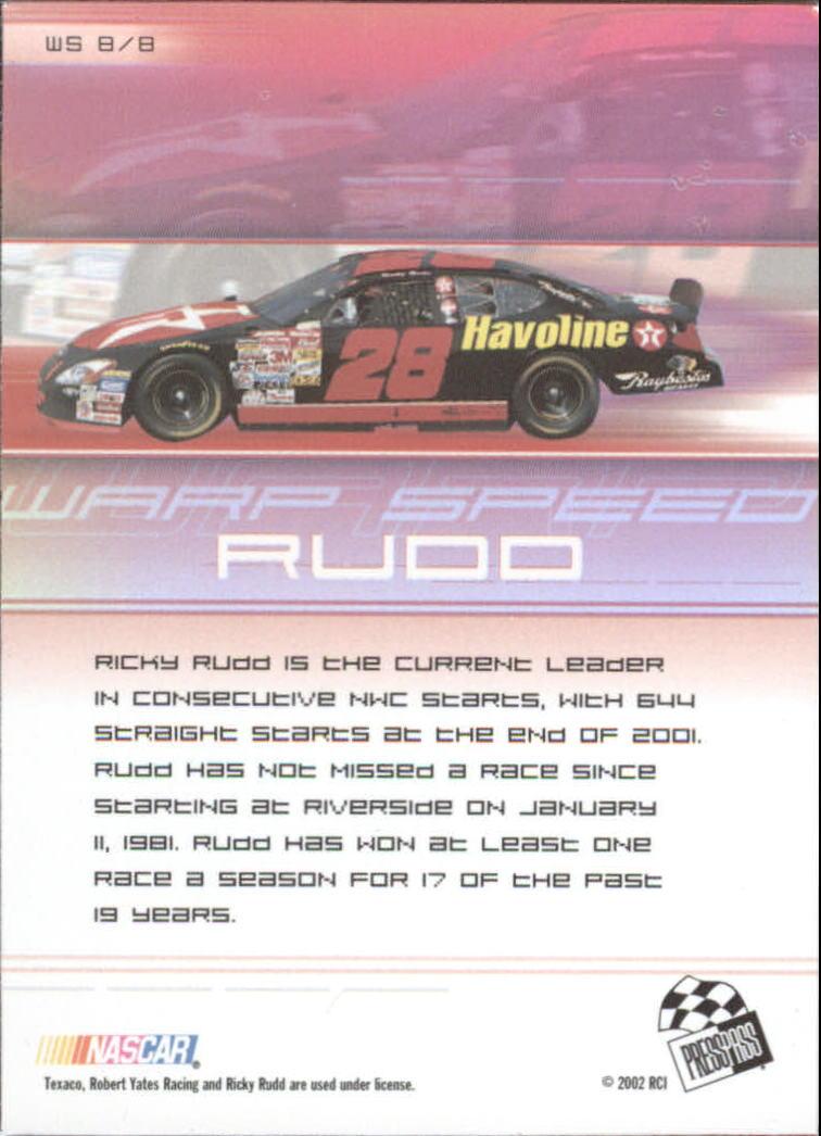 2002-Press-Pass-Eclipse-Racing-Insert-Card-Pick thumbnail 31