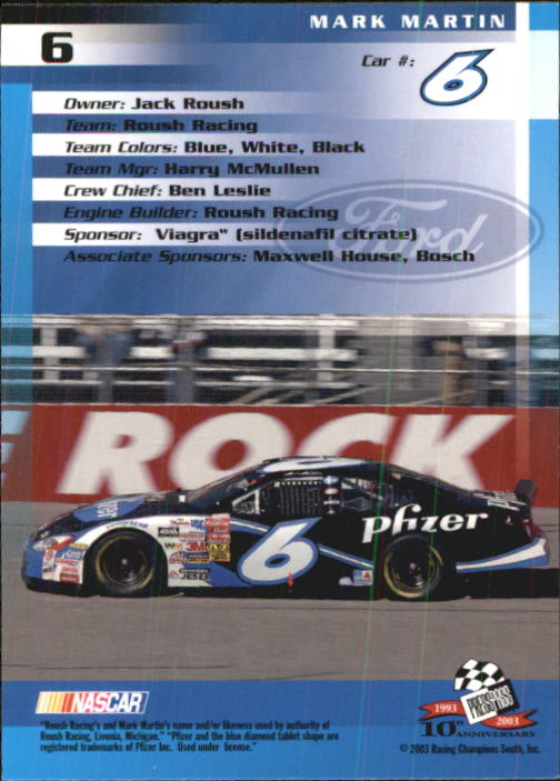 2003-Press-Pass-Trackside-Racing-Card-Pick thumbnail 13
