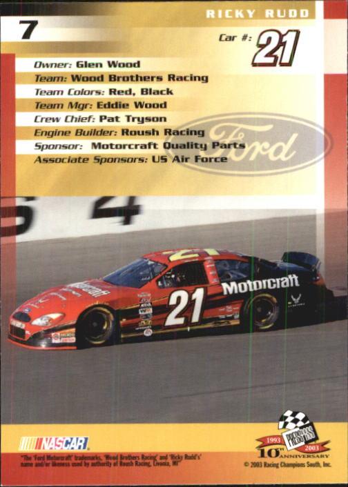 2003-Press-Pass-Trackside-Racing-Card-Pick thumbnail 15