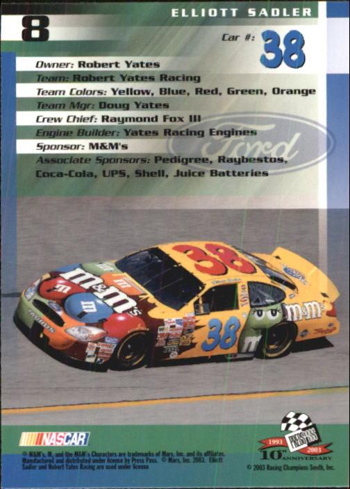 2003-Press-Pass-Trackside-Racing-Card-Pick thumbnail 17
