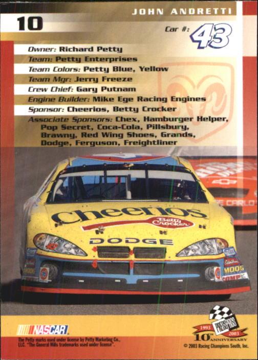 2003-Press-Pass-Trackside-Racing-Card-Pick thumbnail 21