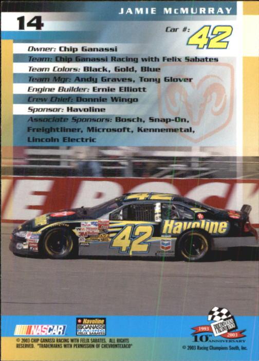 2003-Press-Pass-Trackside-Racing-Card-Pick thumbnail 29