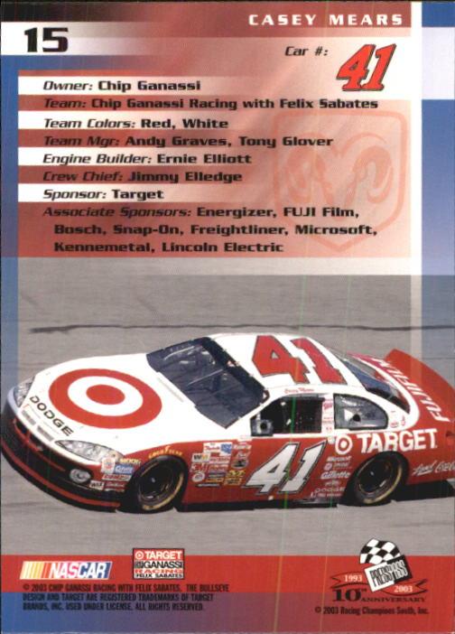 2003-Press-Pass-Trackside-Racing-Card-Pick thumbnail 31