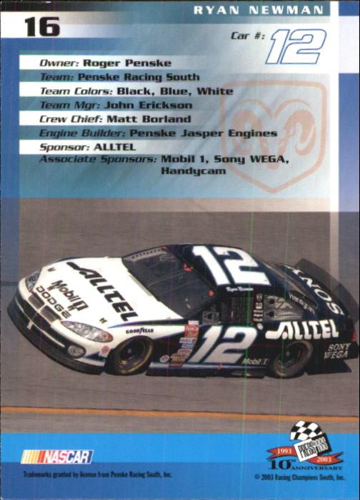 2003-Press-Pass-Trackside-Racing-Card-Pick thumbnail 33