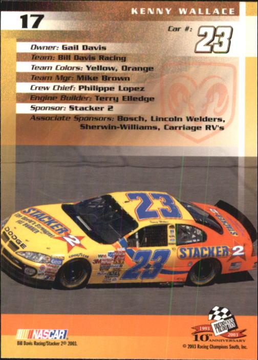 2003-Press-Pass-Trackside-Racing-Card-Pick thumbnail 35