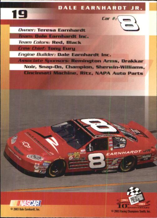 2003-Press-Pass-Trackside-Racing-Card-Pick thumbnail 39