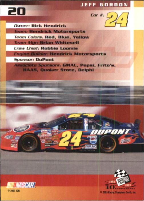 2003-Press-Pass-Trackside-Racing-Card-Pick thumbnail 41
