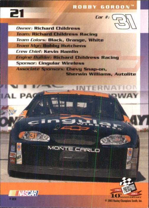 2003-Press-Pass-Trackside-Racing-Card-Pick thumbnail 43