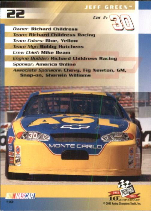 2003-Press-Pass-Trackside-Racing-Card-Pick thumbnail 45