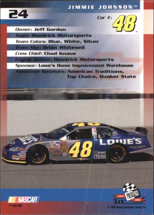 2003-Press-Pass-Trackside-Racing-Card-Pick thumbnail 49