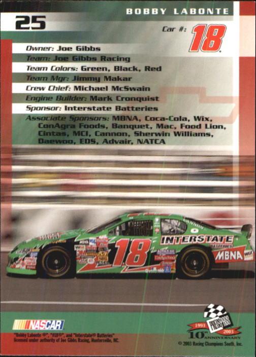 2003-Press-Pass-Trackside-Racing-Card-Pick thumbnail 51