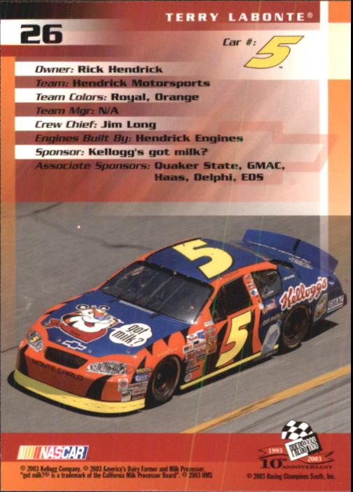 2003-Press-Pass-Trackside-Racing-Card-Pick thumbnail 53
