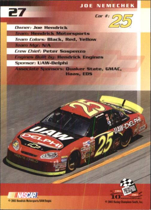 2003-Press-Pass-Trackside-Racing-Card-Pick thumbnail 55