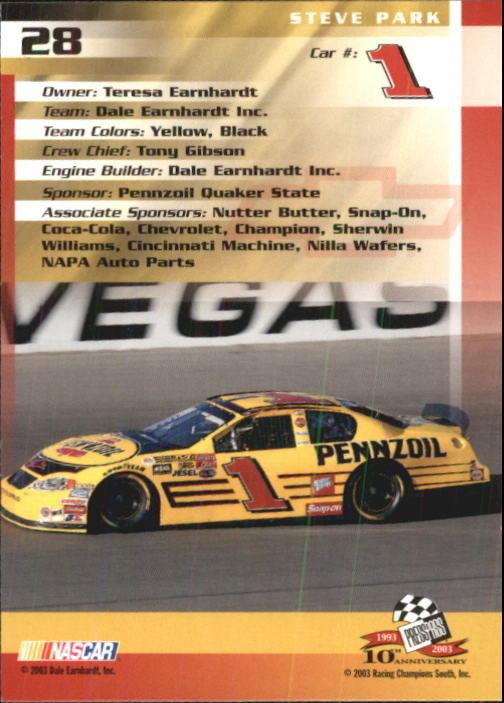 2003-Press-Pass-Trackside-Racing-Card-Pick thumbnail 57