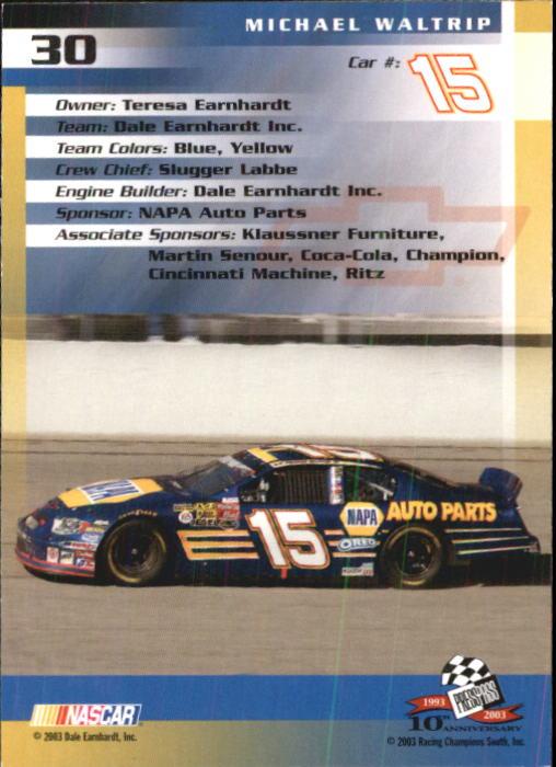 2003-Press-Pass-Trackside-Racing-Card-Pick thumbnail 61