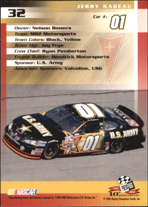 2003-Press-Pass-Trackside-Racing-Card-Pick thumbnail 65