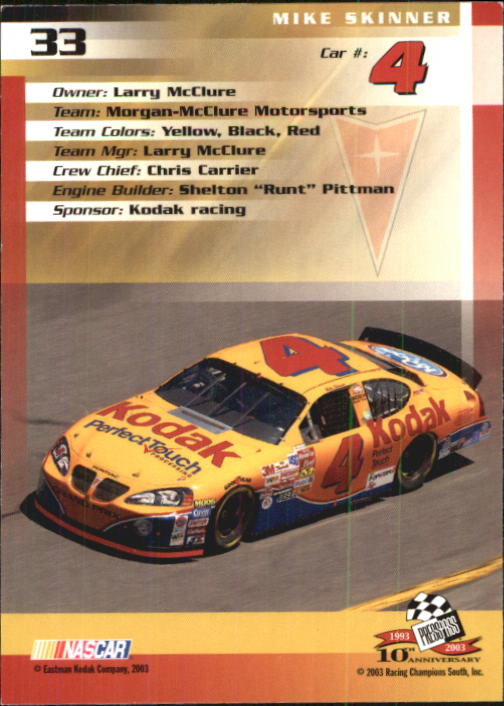 2003-Press-Pass-Trackside-Racing-Card-Pick thumbnail 67