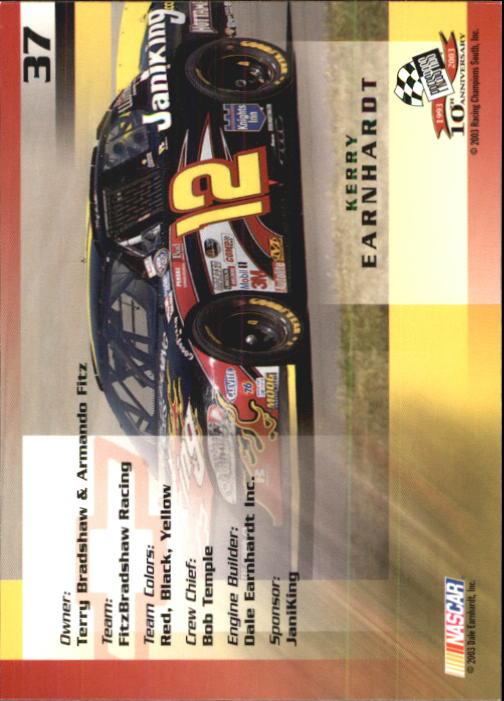 2003-Press-Pass-Trackside-Racing-Card-Pick thumbnail 75