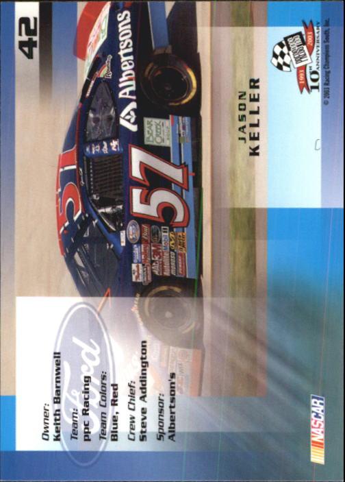 2003-Press-Pass-Trackside-Racing-Card-Pick thumbnail 85