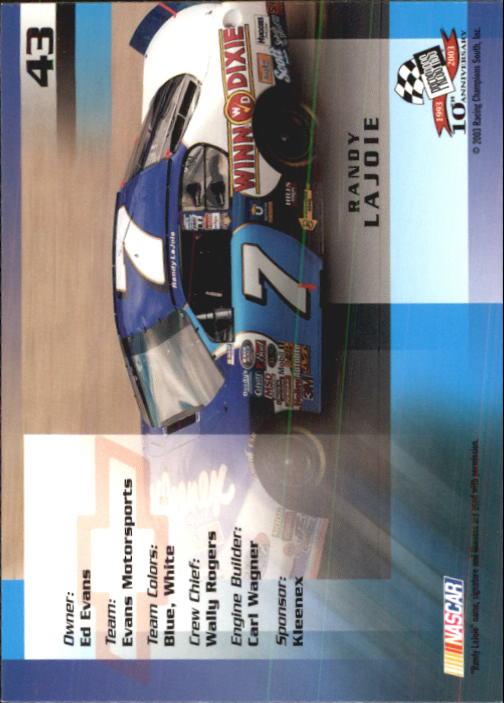2003-Press-Pass-Trackside-Racing-Card-Pick thumbnail 87