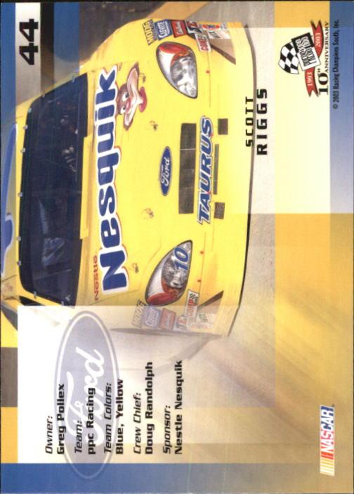 2003-Press-Pass-Trackside-Racing-Card-Pick thumbnail 89