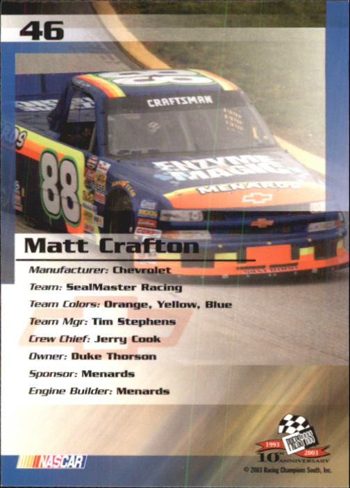 2003-Press-Pass-Trackside-Racing-Card-Pick thumbnail 93