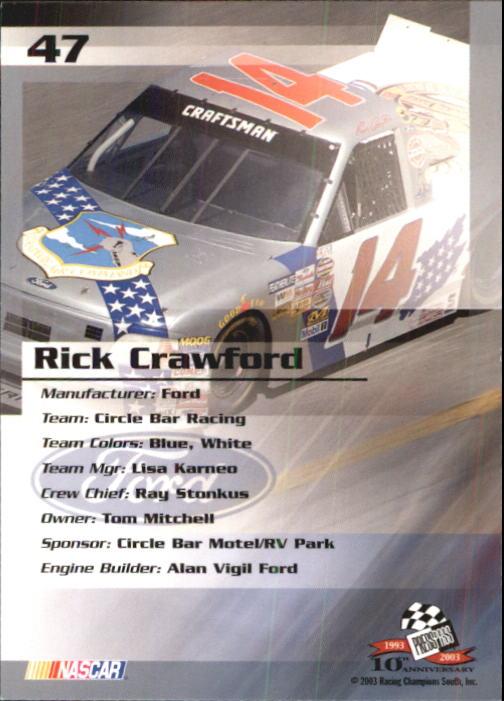 2003-Press-Pass-Trackside-Racing-Card-Pick thumbnail 95