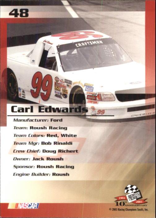 2003-Press-Pass-Trackside-Racing-Card-Pick thumbnail 97