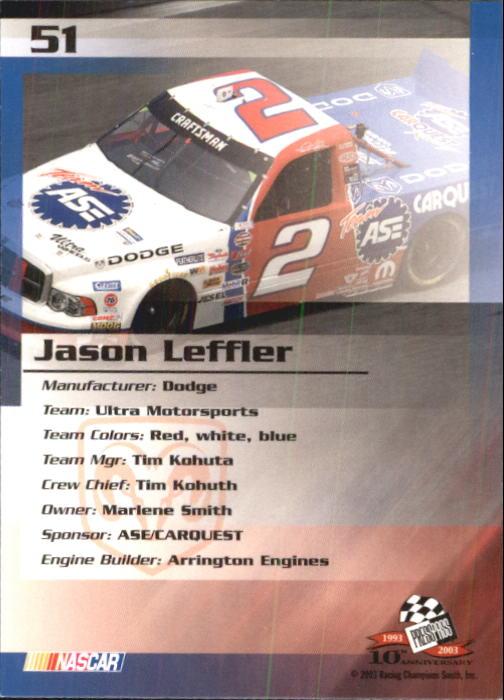2003-Press-Pass-Trackside-Racing-Card-Pick thumbnail 103