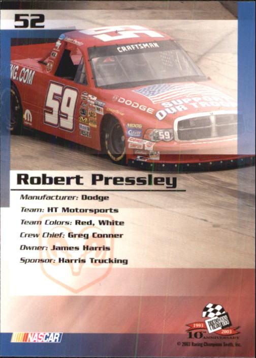 2003-Press-Pass-Trackside-Racing-Card-Pick thumbnail 105