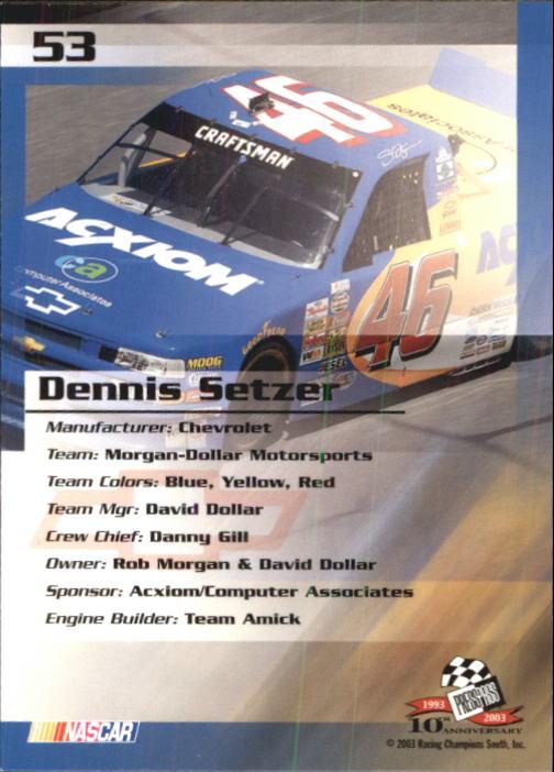 2003-Press-Pass-Trackside-Racing-Card-Pick thumbnail 107