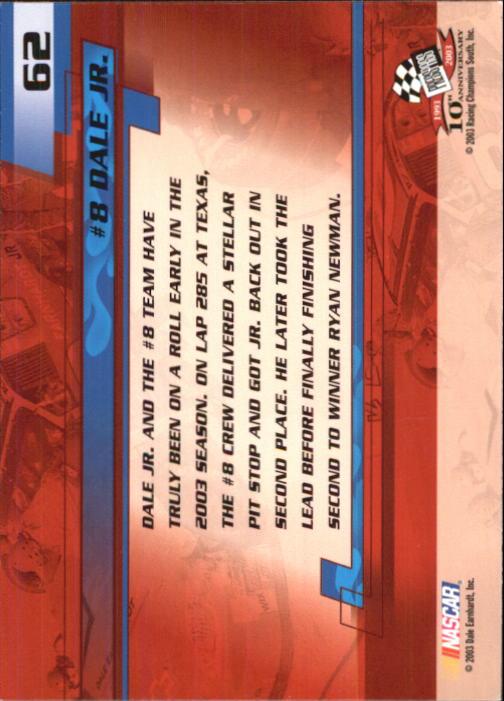 2003-Press-Pass-Trackside-Racing-Card-Pick thumbnail 125