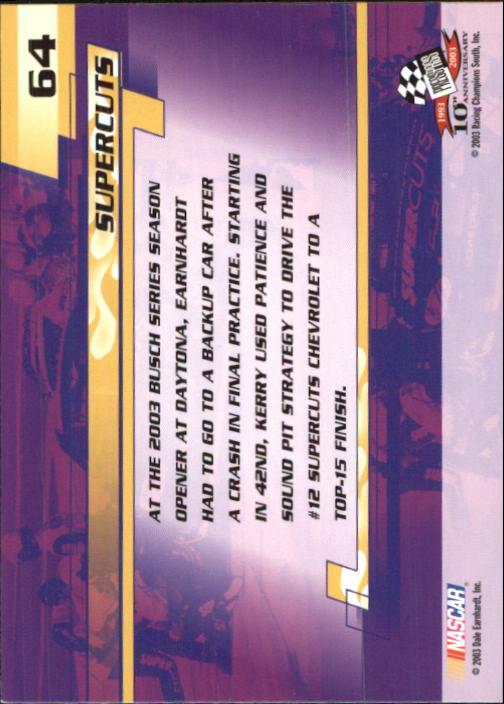 2003-Press-Pass-Trackside-Racing-Card-Pick thumbnail 129