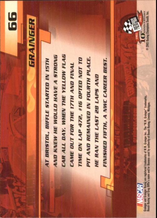 2003-Press-Pass-Trackside-Racing-Card-Pick thumbnail 133